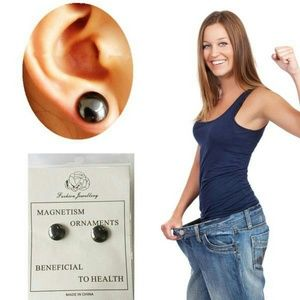Slimming magnetic earrings stud